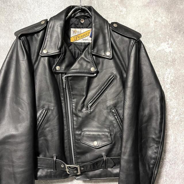 schott(ショット)のschott ショット ダブルライダースジャケット レザージャケット メンズのジャケット/アウター(ライダースジャケット)の商品写真