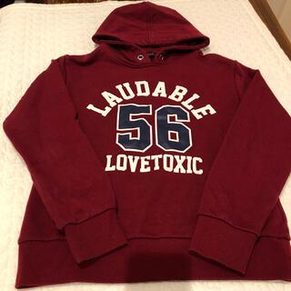 ラブトキシック(lovetoxic)のLOVETOXIC ラブトキ パーカー トレーナー M 女の子 ダンス(Tシャツ/カットソー)