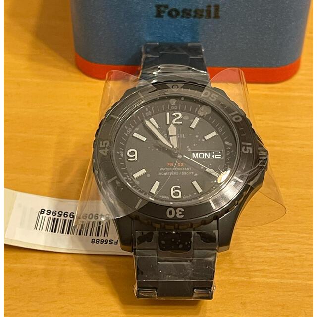 FOSSIL(フォッシル)の【本日限り値下げ】FOSSIL FB-02 ブラックステンレススチールウォッチ メンズの時計(腕時計(アナログ))の商品写真