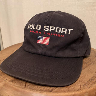 POLO RALPH LAUREN - 90's Vintage Polo Sport Cap Navy USA製