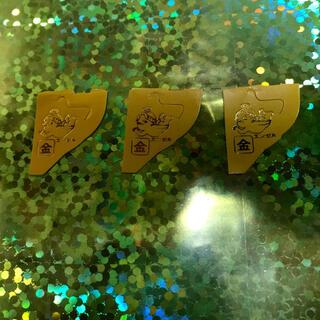 モリナガセイカ(森永製菓)の即発送★【幸運の御守り❣️】金のエンゼル3枚 おもちゃのカンヅメ チョコボール(ノベルティグッズ)