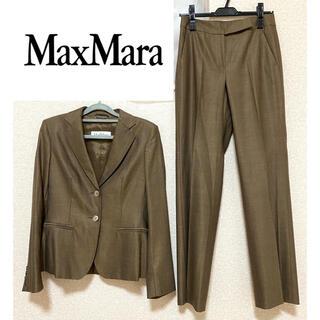マックスマーラ(Max Mara)の【イタリア製】MAX MARA マックスマーラ シルク混パンツスーツセット M(スーツ)