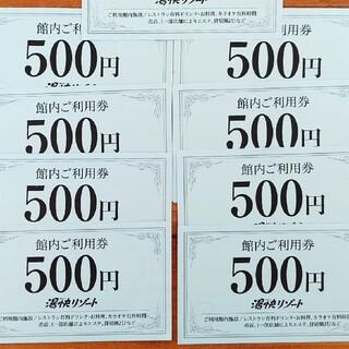 湯快リゾート 館内ご利用券+VIPチケット(その他)