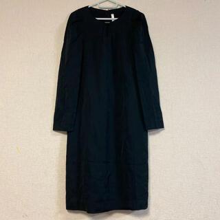 アミウ(AMIW)の定価5万☆BLANC LE BILLET・日本製☆フロント・袖デザインワンピース(ひざ丈ワンピース)