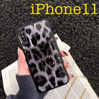 【新品】iPhone11 イレブン ケース 携帯 カバー レオパード ヒョウ柄(iPhoneケース)