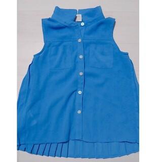 シップスキッズ(SHIPS KIDS)のback number kids ブルー シャツ ワンピース 100cm(Tシャツ/カットソー)