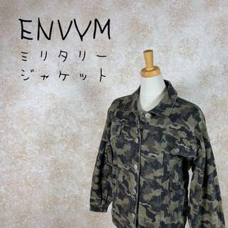 アンビー(ENVYM)のENVM アンビー ミリタリージャケット 迷彩柄 フリーサイズ グリーン 緑(ミリタリージャケット)