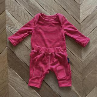 パタゴニア(patagonia)のパタゴニア 新生児 ロンパース 長袖ズボン 上下セット(ロンパース)