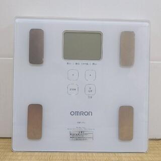オムロン(OMRON)のオムロン 体重体組成計 カラダスキャン ホワイト HBF-214-W (体重計/体脂肪計)
