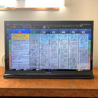 アクオス(AQUOS)の【送料込、値下】LED AQUOS 32型 液晶テレビ B-CAS付(テレビ)