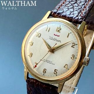 ウォルサム(Waltham)の動作良好★OH済★ウォルサム アンティーク 腕時計 1960年代 メンズ 手巻き(腕時計(アナログ))