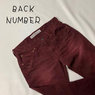 バックナンバー(BACK NUMBER)のBACK NUMBER バックナンバー コーデュロイパンツ レッド 赤 サイズM(カジュアルパンツ)