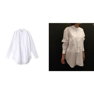 ドゥロワー(Drawer)の専用☆BLAMINK ☆バンドカラーシャツ☆ホワイト36 (シャツ/ブラウス(長袖/七分))
