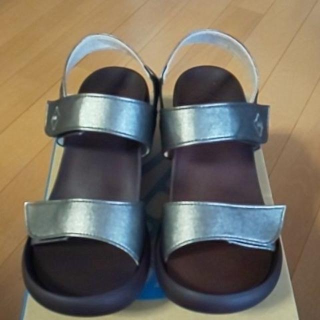 Re:getA(リゲッタ)のRe:getA  リゲッタカヌーデニム調ウェッジサンダル レディースの靴/シューズ(サンダル)の商品写真