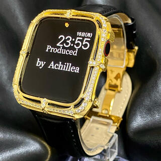 アップルウォッチ用カスタムダイヤカバーベルトセット Silver 925(腕時計(デジタル))