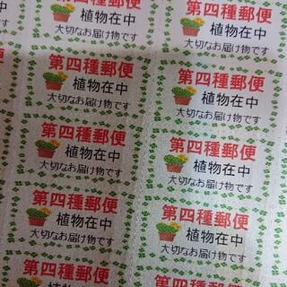 サンキューシール ケアシール 第4種郵便 イラスト付き 88枚(その他)