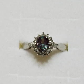 キョウセラ(京セラ)のクレサンベール Pt900 アレキサンドライト ダイヤモンド リング 約13号(リング(指輪))