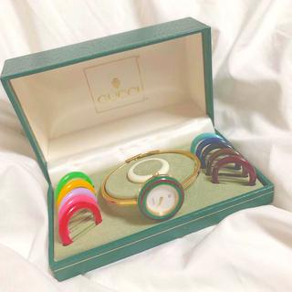 グッチ(Gucci)の【グランツ様専用】GUCCI チェンジベゼル美品 Mサイズ レディース腕時計(腕時計)