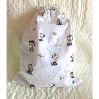 ジェラートピケ(gelato pique)のハンドメイド  巾着 お着替え袋(外出用品)
