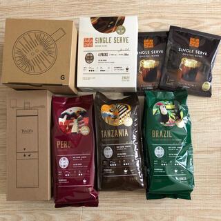TULLY'S COFFEE - 【新品未使用】タリーズ オリジナルドリッパー コーヒーミル コーヒー豆・粉3種