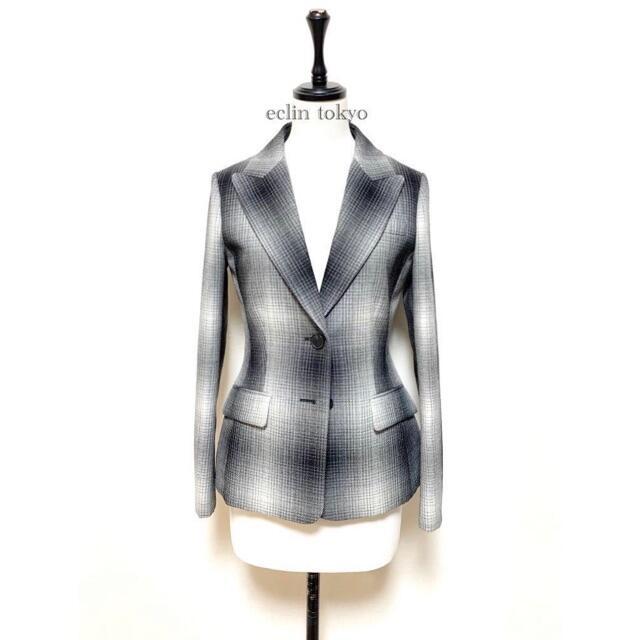 Christian Dior(クリスチャンディオール)の新品同タグ付 ディオール 2020 オンブレ チェックジャケット E2791 レディースのジャケット/アウター(テーラードジャケット)の商品写真