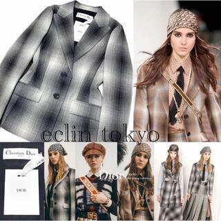 Christian Dior - 新品同タグ付 ディオール 2020 オンブレ チェックジャケット E2791