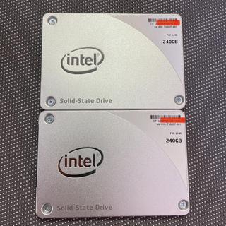 Intel SSD 2.5インチSATA 240GB 二枚セット(PCパーツ)