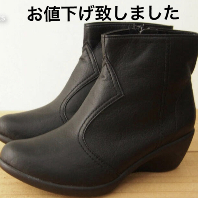 Re:getA(リゲッタ)の新品 リゲッタ  ショートブーツ レディース Lsize黒 レディースの靴/シューズ(ブーツ)の商品写真