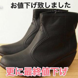 リゲッタ(Re:getA)の新品 リゲッタ  ショートブーツ レディース Lsize黒(ブーツ)
