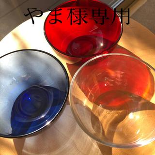 イッタラ(iittala)の【廃盤】イッタラ ティーマ ガラス ボウル 3個セット(食器)