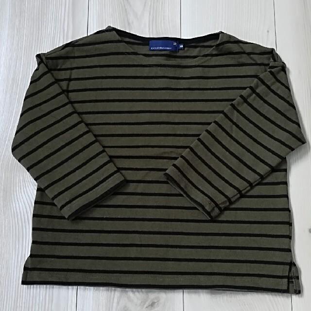 SEVENDAYS=SUNDAY(セブンデイズサンデイ)の120センチ セブンデイズサンデイ ボーダーボートネックプルオーバー キッズ/ベビー/マタニティのキッズ服男の子用(90cm~)(Tシャツ/カットソー)の商品写真