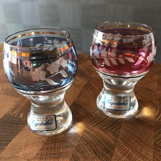 ボヘミア クリスタル(BOHEMIA Cristal)のbohemia 切子風お猪口(ペアショットグラス)(グラス/カップ)