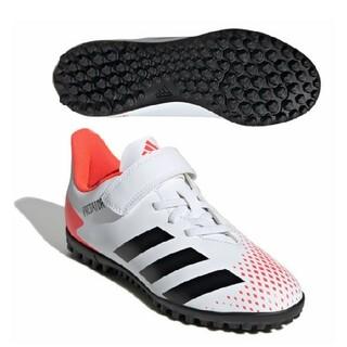 アディダス(adidas)の新品 送料込み adidas 子供用 21.5センチ サッカー シューズ 白色(スニーカー)
