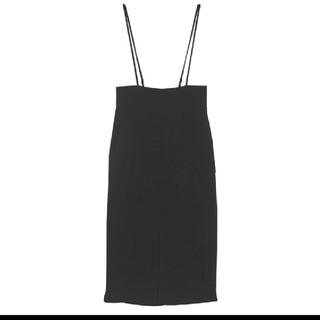 ジーユー(GU)のGU XLサイズ ロングタイト サスペンダースカート(ロングスカート)