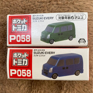 タイトー(TAITO)のポケットトミカ P058 スズキ エブリイ(電車のおもちゃ/車)