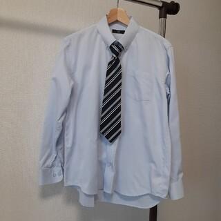水色ブラウス ネクタイ付き 165cm(ブラウス)