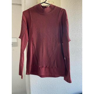 ジャンポールゴルチエ(Jean-Paul GAULTIER)のゴルチエ femme 再構築 ハイネック Tシャツ(Tシャツ/カットソー(半袖/袖なし))