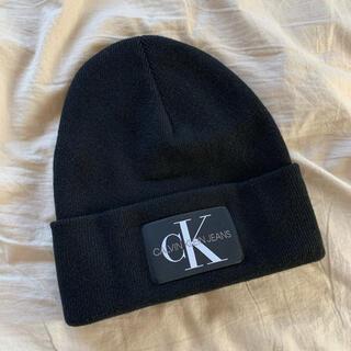 カルバンクライン(Calvin Klein)のCalvin Klein。羊毛カシミヤ ニット帽 ビーニー。美品!(ニット帽/ビーニー)