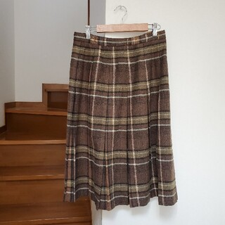 チェック柄スカート(ひざ丈スカート)