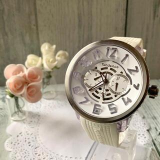 テンデンス(Tendence)の【美品】Tendence テンデンス 腕時計 FLASH フラッシュ ホワイト(腕時計(アナログ))
