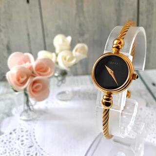グッチ(Gucci)の【美品】GUCCI グッチ 2700.2L 腕時計 ブラック ゴールド(腕時計)