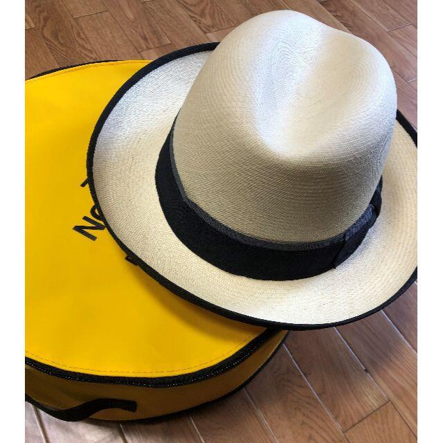 Borsalino(ボルサリーノ)のドルフザン★クエンカパナマ・ホンブルグ・Wリボン①58CM Grade20 メンズの帽子(ハット)の商品写真