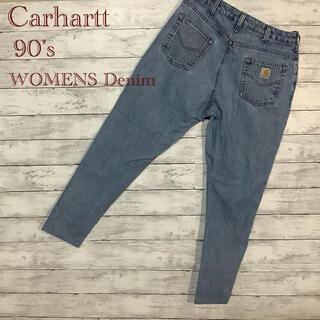 カーハート(carhartt)のCarhartt デニム ジーンズ レディース メキシコ製 一点物 90's(デニム/ジーンズ)