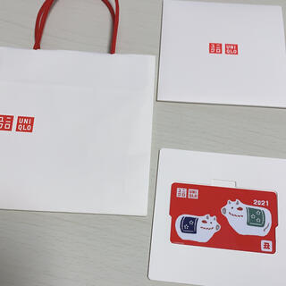 ユニクロ(UNIQLO)の新品 ユニクロUNIQLOギフトカード ケース付 3000円分(ショッピング)