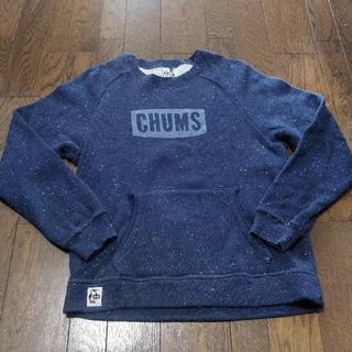 チャムス(CHUMS)のCHUMS チャムス スウェット パーカー ニット S ネイビー(スウェット)