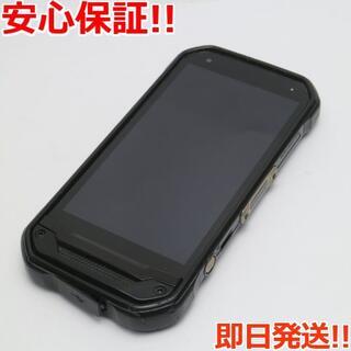 キョウセラ(京セラ)の良品中古 SIMロック解除済 au TORQUE G03 ブラック 白ロム(スマートフォン本体)