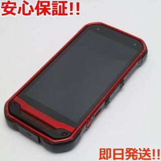キョウセラ(京セラ)の美品 SIMロック解除済 au TORQUE G03 レッド 白ロム(スマートフォン本体)
