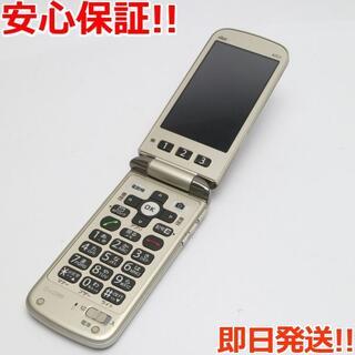 キョウセラ(京セラ)の良品中古 au K012 ゴールド 白ロム(携帯電話本体)