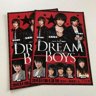 キスマイフットツー(Kis-My-Ft2)の最終処分価格!DREAM BOYS 2014 フライヤー 2枚セット(男性アイドル)