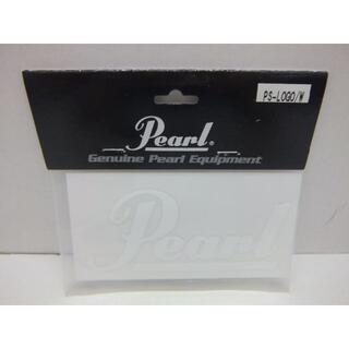 パール(pearl)の★0851・Pearl ロゴステッカー ホワイト 2枚セット 未開封品(その他)